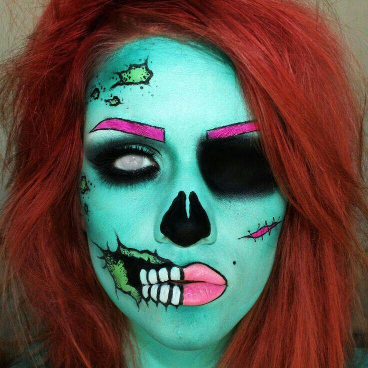 Pin de Rouse en Pop Art Maquillaje de halloween