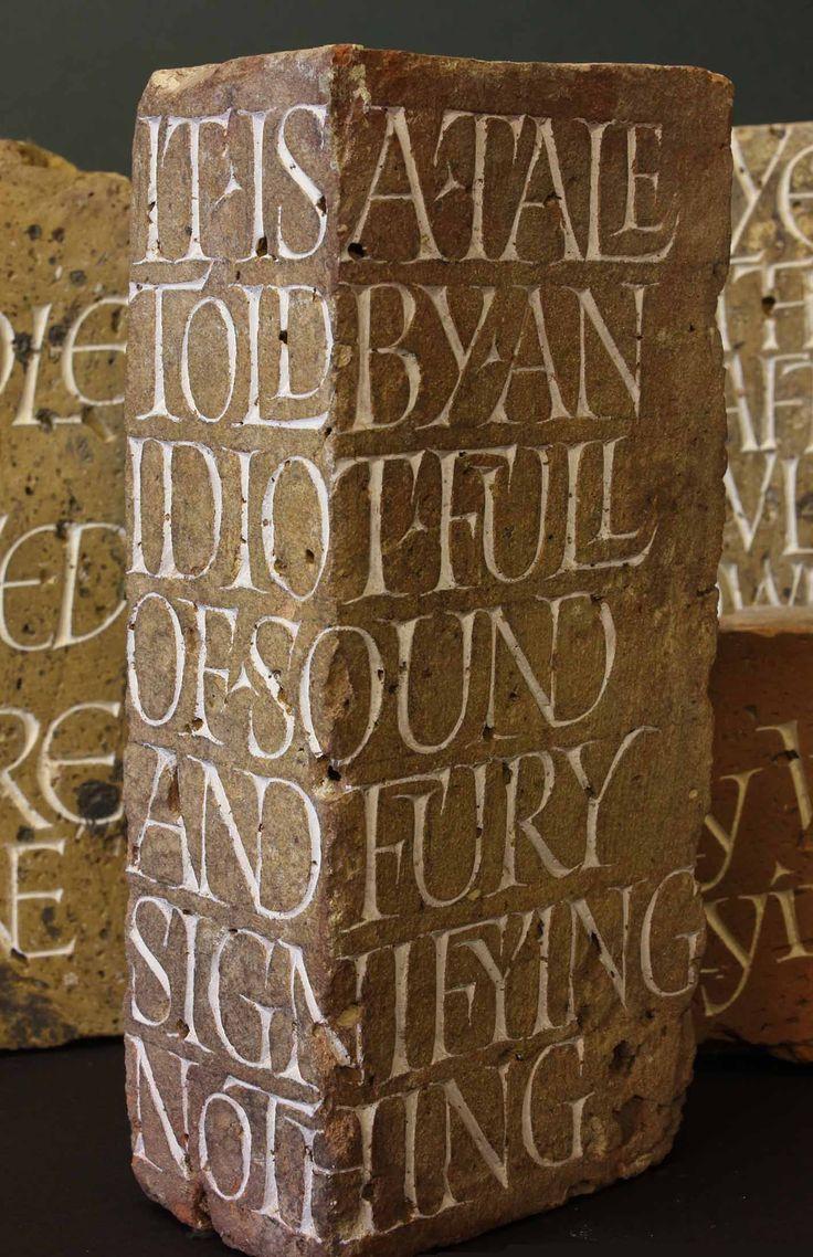 Brick carvings of Mark Brooks. Beautiful!