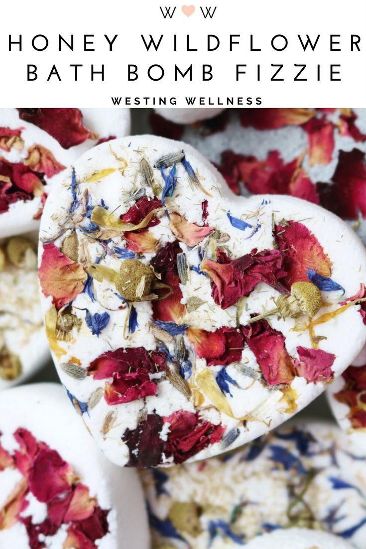 Honey Wildflower Bath Bomb/ Etsy Shop Westing Wellness. $5.50/ Bridal Shower Gift/ Birthday Gift/ Organic/ Green Beauty/ Handmade/ Flowers