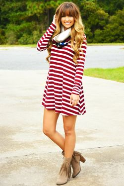Share to save 10% on  your order instantly!  Loud As My Heart Dress: Crimson/White