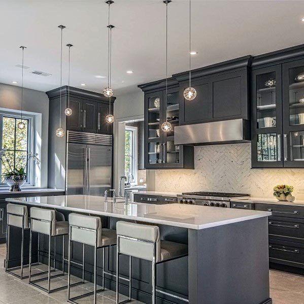 top 50 best grey kitchen ideas refined interior designs home decor kitchen kitchen interior on kitchen ideas white and grey id=44359