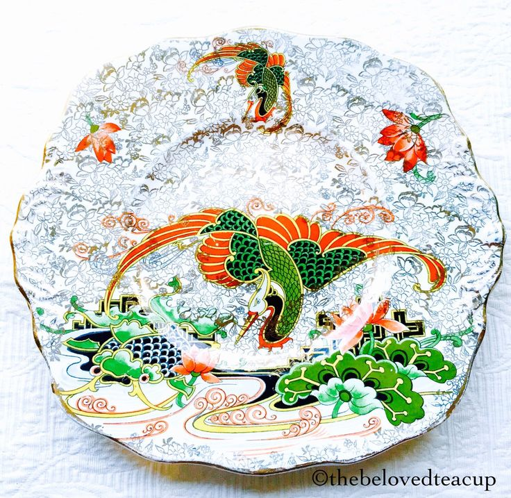 Phoenix China Oriental Crane 1930's Cake Plate by TheBelovedTeacup on Etsy https://www.etsy.com/ca/listing/230205165/phoenix-china-oriental-crane-1930s-cake