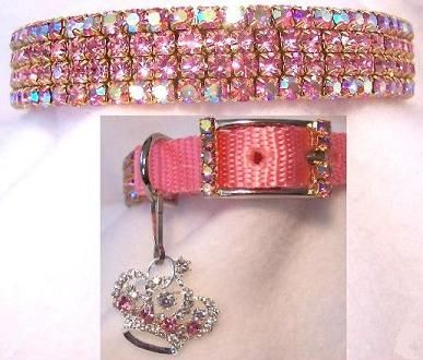 blinged out dog collar. too cute. i'd take off that crown thing though.