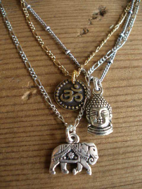 3 strand Mixed Metals Buddha Elephant OM OHM by RedGypsyJewelry, $47.00