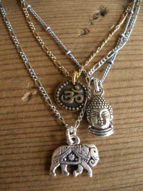 3 strand Mixed Metals Buddha Elephant OM OHM by RedGypsyJewelry, $47.00
