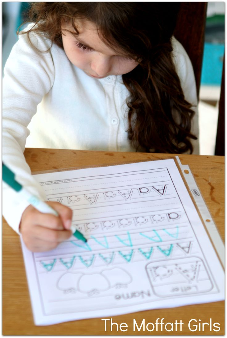 FREE…FREE…FREE! A-Z Handwriting Practice Pages! Just print, place in sleeve protectors and use with a dry erase marker!