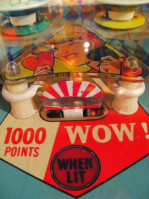 Vintage pinball design