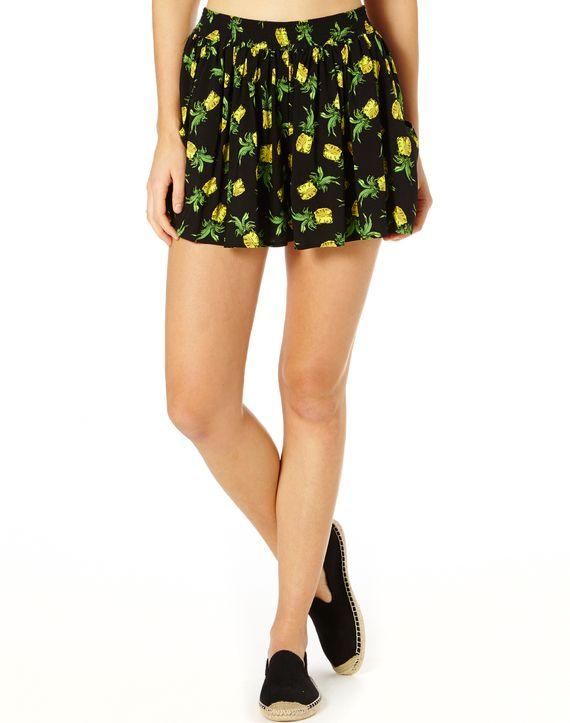 Pineapple Side Pocket Shorts