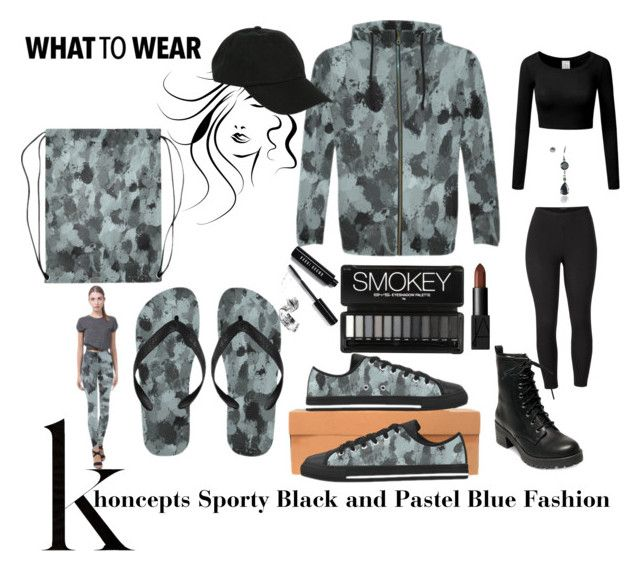 Khoncepts Sporty Black and Pastel Blue Fashion by khoncepts on Polyvore