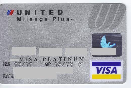 United Airlines | Mileage Plus | VISA Platinum | Bank Boston, Argentina | Col:AR-VI-0042,Jof:ARG-VI-0011