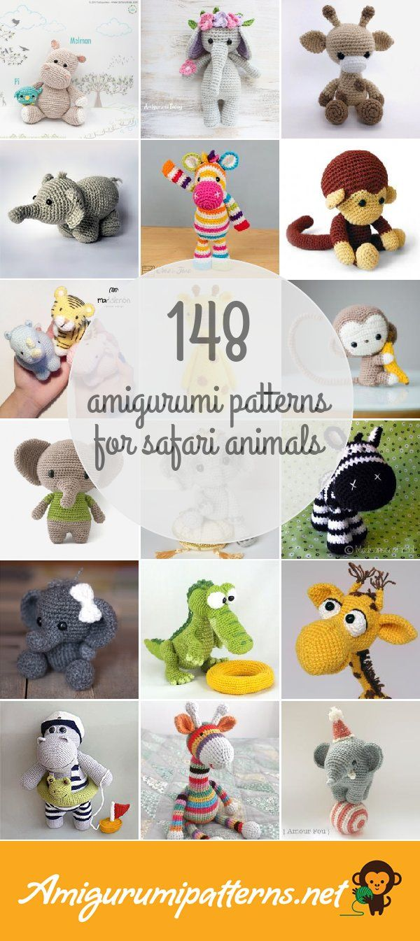 148 Safari Animals Amigurumi Patterns