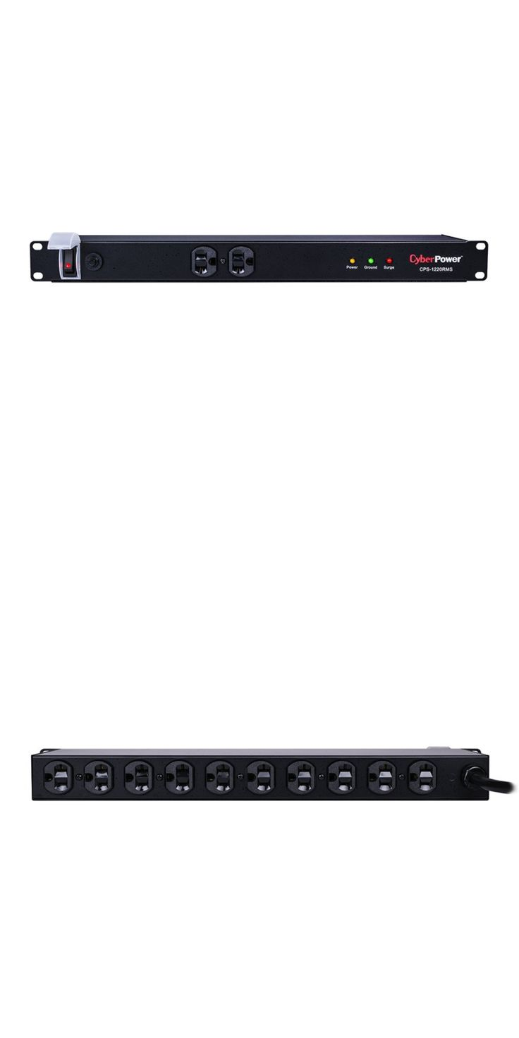 Surge Protectors Power Strips: New Cyberpower Cps-1220Rms 19 1U Rackmount Pdu Power Surge Strip 12-Outlet 20A -> BUY IT NOW ONLY: $77.48 on eBay!