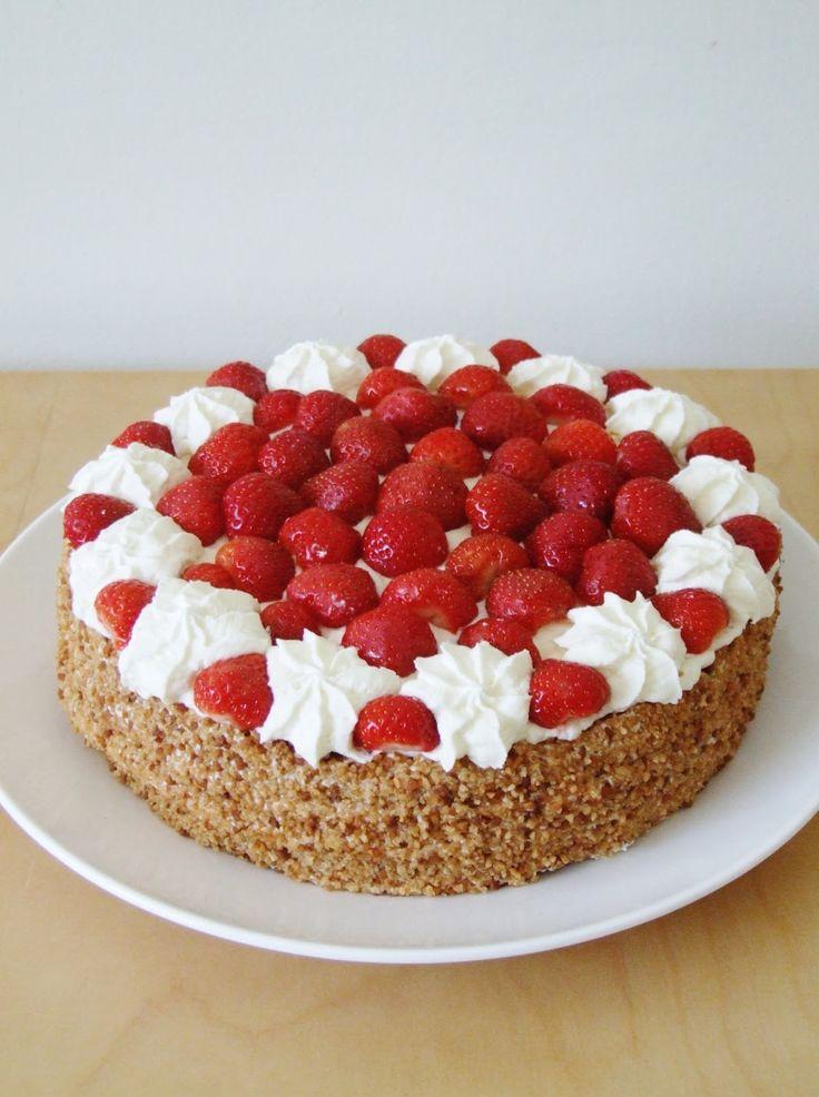 Zoet & Verleidelijk: Aardbeien slagroomtaart