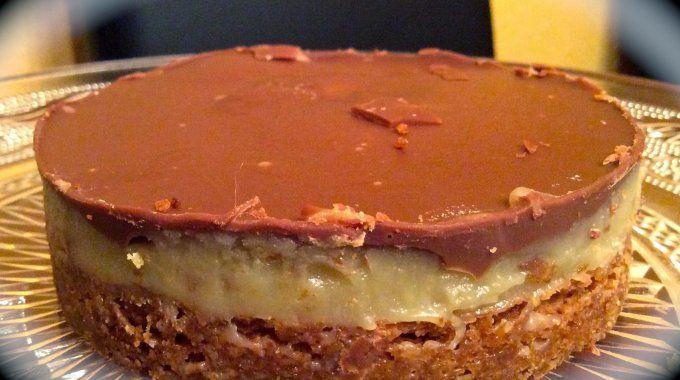 Torta de Biscoito com Toffe e Chocolate | MyRestaurant