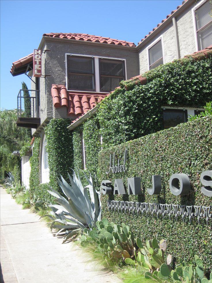 Austin - Hotel San Jose. Beautiful patio, landscaping, cool hotel rooms, and fantastic location. #HotelSanJose #ATXweLove #Austin #PLLAustin