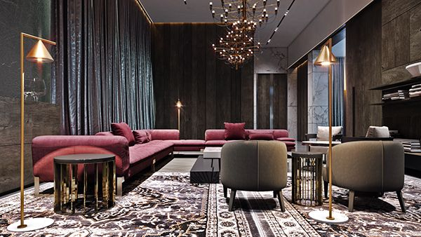 Villa In Middle East On Behance Luxury Living Room