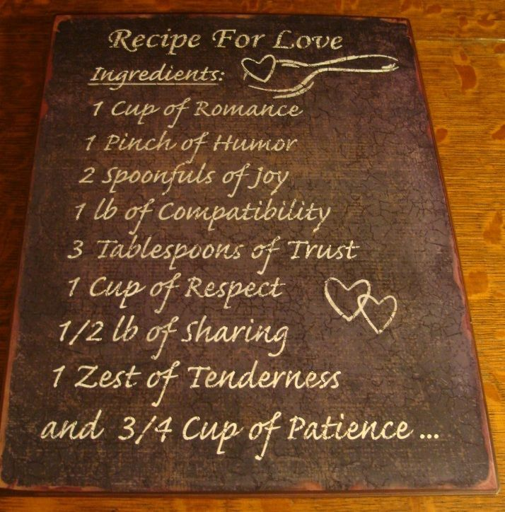 Primitive Kitchen Signs: Country Primitive Kitchen RECIPE FOR LOVE Home Cook Chef