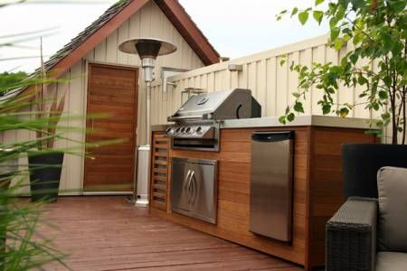 Bbq Against Fence On Decking Dream Yard Outdoor Living
