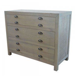 Weathered Oak Chest of Drawers