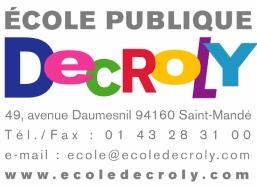Ecole Publique pédagogie Decroly, de la maternelle au collège, St Mandé (94) pour G-Sun !