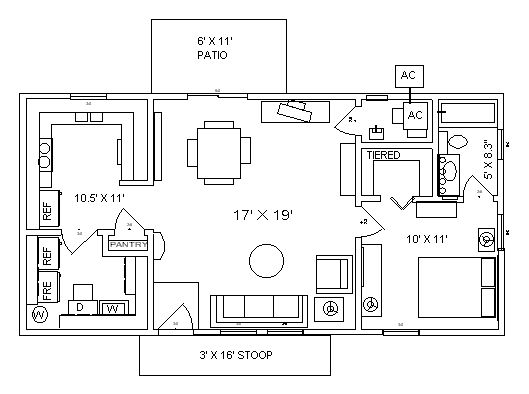 20x40 house layout