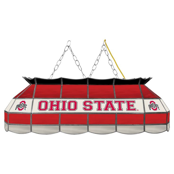 NCAA Ohio State Buckeyes Stained Glass Lighting Fixture - 40
