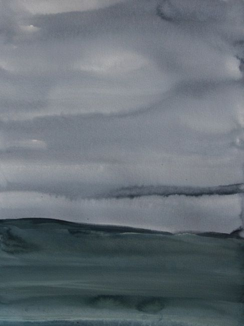 Koen Lybaert - Elvestad - watercolor on paper [40 x 30] / 2014 - [price 160 euro, shipment include]