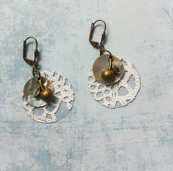 Dangle Earrings – Boho lace earrings 216-1-2 dangle and drop – a unique product by Carla-Amaro on DaWanda
