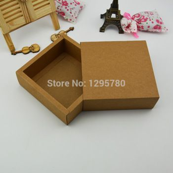 20 stuks 15*15*5cm diy leeg kraftpapier verpakking doos kleine opslag/sieraden/snoep/horloge doos, gratis verzending