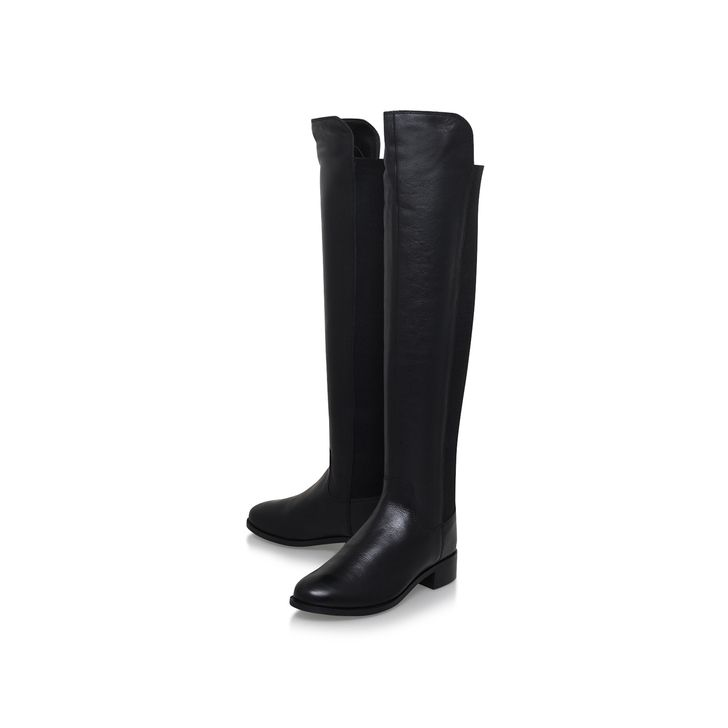 Pacific Black Flat Over The Knee Boots By Carvela Kurt Geiger | Kurt Geiger