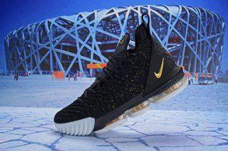 5670f41c7637 Nike LeBron 16 EP Black Gold White AO2588 055 Men s Basketball Shoes James  Shoes