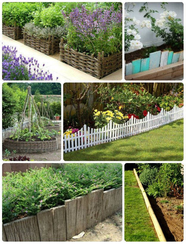 72 best images about garden edging on pinterest gardens for Cheap and easy flower bed borders