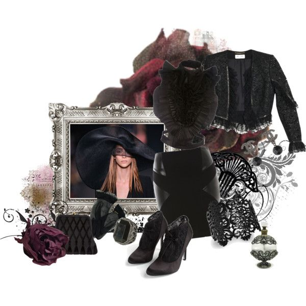 Black & Black by matildaaah on Polyvore featuring Givenchy, Yves Saint Laurent, Jane Norman, Lauren Jones, Roberta Di Camerino, Chanel, Bar III, Wet Seal, By Malene Birger and Johnny Loves Rosie