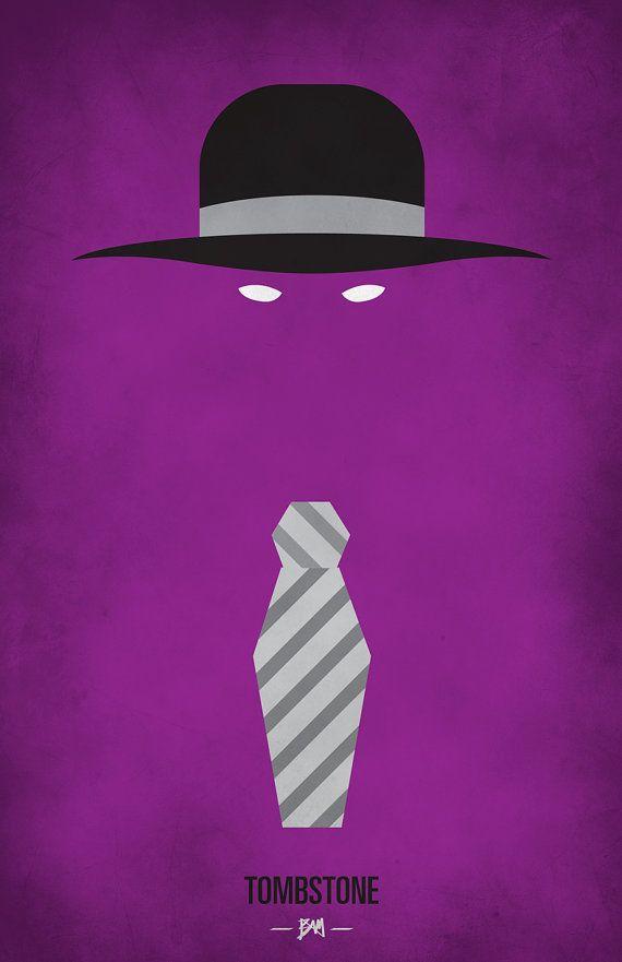 WWF Legends Minimalist  Poster  'The Undertaker' by BAMitsBernie, $20,00
