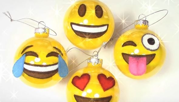 If You Like Emoji's You're Gonna LOVE Emoji Christmas Ornaments! -  http://www.gottalovediy.com/wp-content/uploads/sites/1137/2015/12/emoji.jpg - In this video tutorial you will learn how to make some very expressive and super cute Emoji Christmas Ornaments.  - http://www.gottalovediy.com/emoji-christmas-ornaments/