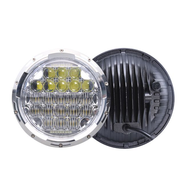 Source Factory Direct 5d 75 W 7 Inch 12 V Round Led Headlight For Jeep 7inch Headlight 5d Lens On M Alibaba Com Lighting Logo How To Make Light Led Light Bars