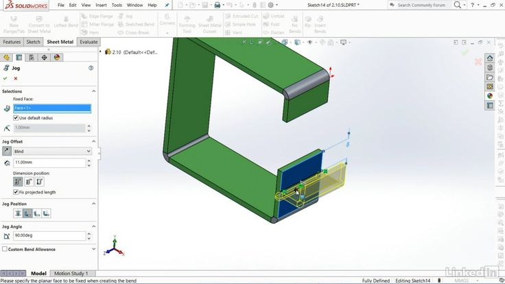 Learn Solidworks How Jog Works Sheet Metal Dns Names Logos