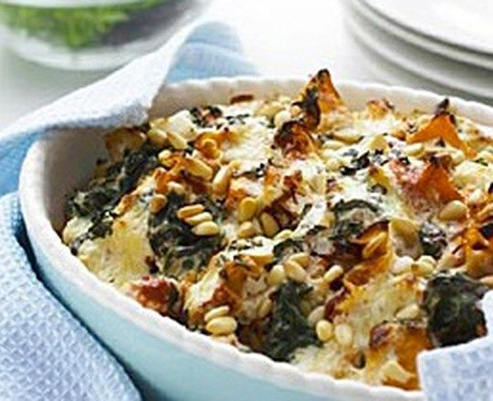 Spinach and Pumpkin Cheesy Lasagnette Bake
