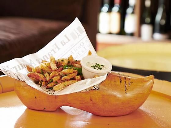 Aquitaine Wine Bistro in San Francisco, CA  Pommes Frites in a Shoe