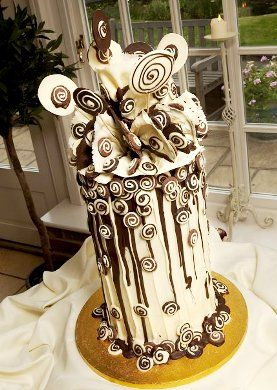 Alternative UK wedding cake by Choccywoccydoodah