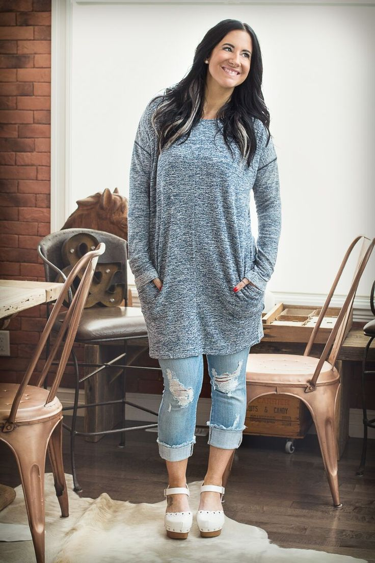 The {COMFIEST} Sweater Dress you will EVER Own!! And it has POCKETS!! This piece is Curved Perfectly for a Woman's Body - You'll want…
