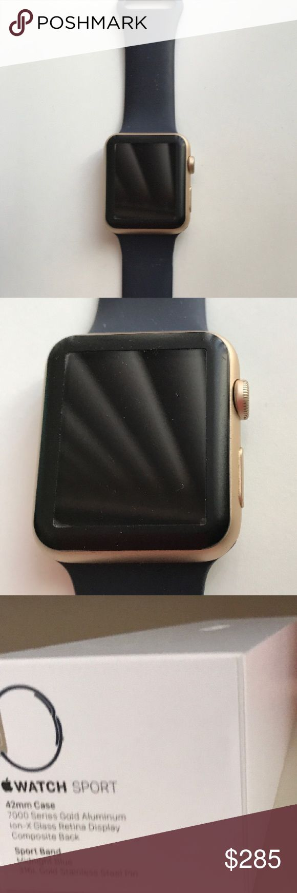 ❤️IPHONE WATCH|~LIKE NEW|~SERIES 2~W/EXTRAS❤️ ❤️LIKE BRAND NEW IPHONE SERIES 2 WATCH. COMES IN ORIGINAL PACKAGING. INCLUDES SCREEN PROTECTOR AND CHARGER. NAVY BLUE WATCH BAND. WORN MAYBE 5-10X. RETAIL $375. PRICE IS FIRM❤️ IPHONE Accessories Watches