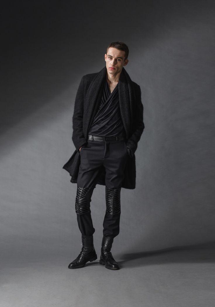 "black rebel coat michal kozlowski   diploma collection ""debut""   2014"