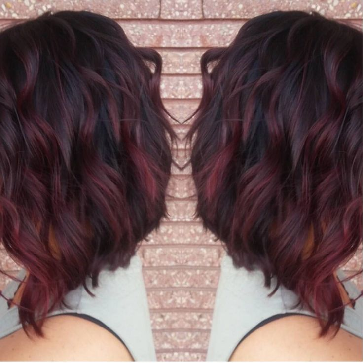 Best 25 Burgundy Hair With Highlights Ideas On Pinterest