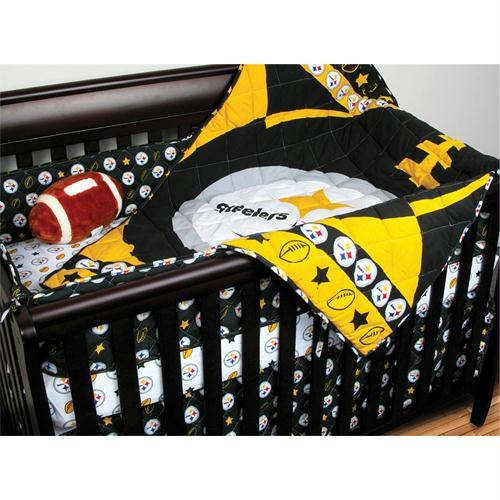 Steeler Crib Bedding Set