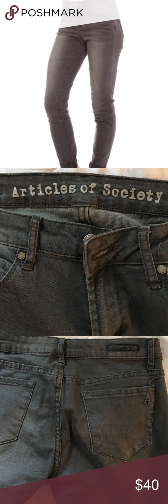 Articles of Society Skinny Jeans Charcoal skinny jeans. Comfy Articles Of Society Jeans Skinny