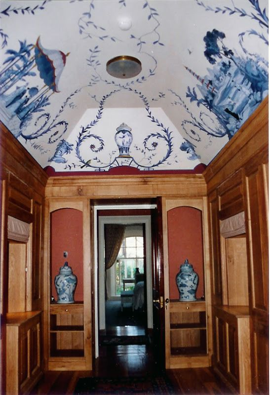 30 best images about blue and white chinoiserie on for Mural room white house