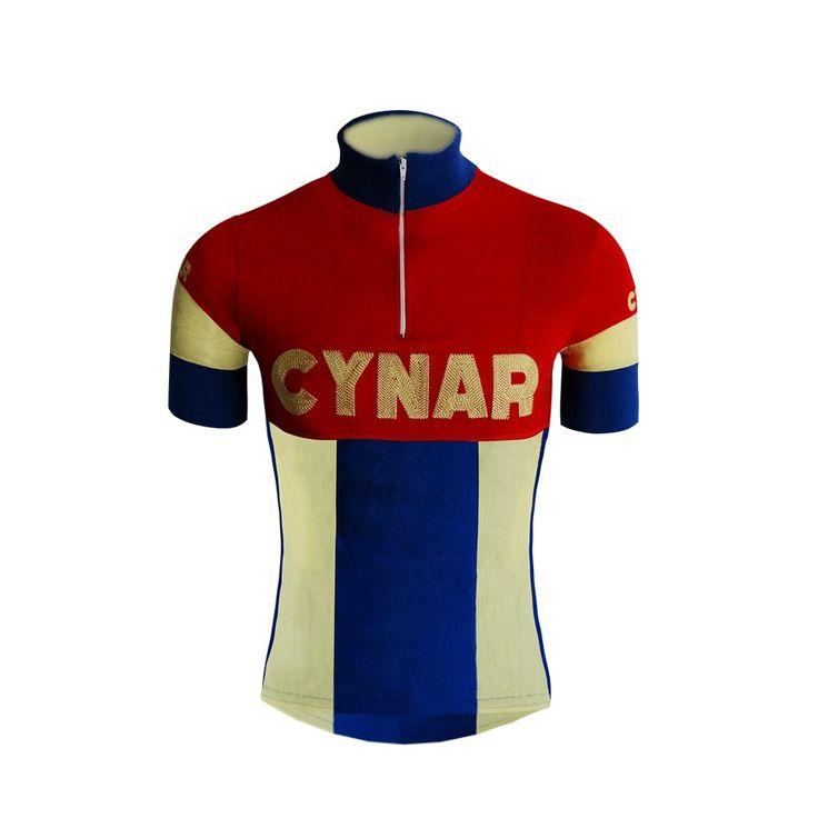 Jerseu ciclismo Cynar lana vintage | Magliette da ciclista | Rosa Sport