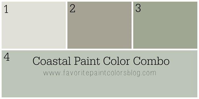 Coastal Paint Color Combination