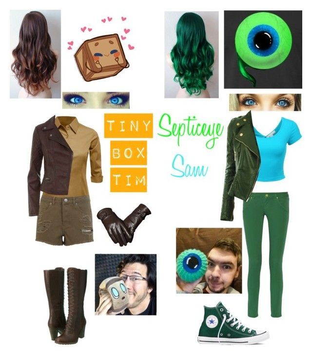 """Tiny Box Tim & Septiceye Sam"" by nebulaprime on Polyvore featuring beauty, Timberland, M Missoni, Converse, LE3NO and Miss Selfridge"